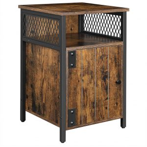 Bedside Table with Storage Cabinet